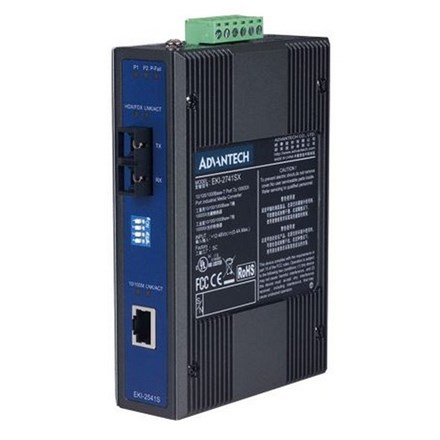 Advantech EKI-2541S-AE Ethernet to Single Mode Fiber AQ7015