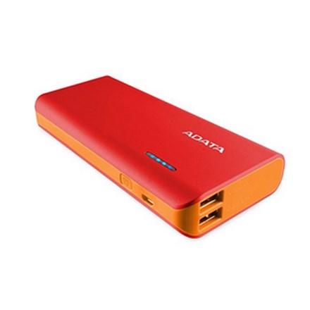 ADATA PT100 10000mAh Powerbank with Flashlight - Red/Orange PWR045