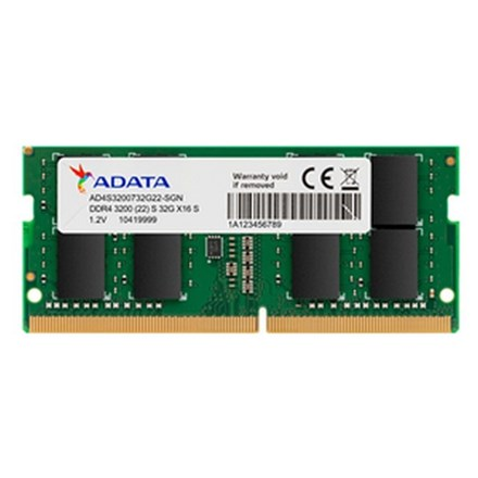 ADATA 32GB DDR4-3200 2048x8 SODIMM Lifetime wty NB2429