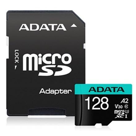 ADATA Premier Pro microSDHC UHS-I U3 A2 V30 Card with Adapter128GB FS361-Y28B