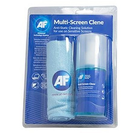 AF Screen-Clene + Large Microfibre Cloth ~ 200ml CL202