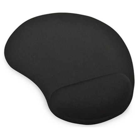 Ednet Mouse Pad with Gel Wrist Rest - Black IO159