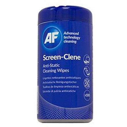 AF Screen-Clene Wipes Tub of 100 CL125