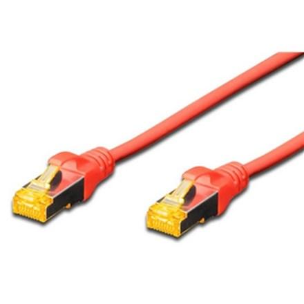 Digitus S-FTP CAT6A Patch Lead - 0.5M Red CA9301R