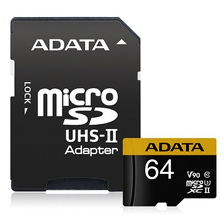 ADATA Premier ONE V90 UHS II Micro SDXC Card with Adapter 64GB FS391-X64