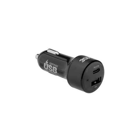 3SIXT Car Charger 27W USB-C PD - Black 3S-1031