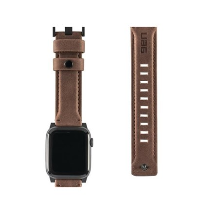"""UAG Apple Watch 44""""/42"""" Leather Strap- Brown 10154623"""