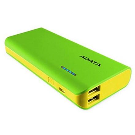 ADATA PT100 10000mAh Powerbank with Flashlight - Green/Yellow PWR043