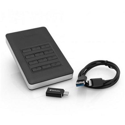 Verbatim Store 'n' Go Secure HDD with Encrypted Keypad Access HDD 2TB DRV227