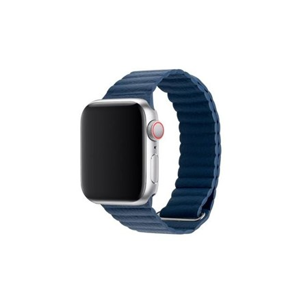 3SIXT Apple Watch Band - Leather Loop - 42/44mm - Blue 10152325