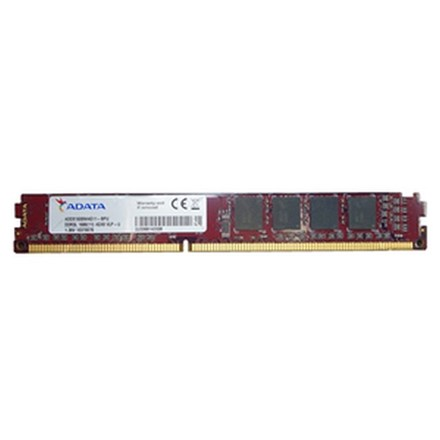 Adata 4GB 512x8 DDR3L 1600 VLP DIMM low voltage Lifetime wty RM3354