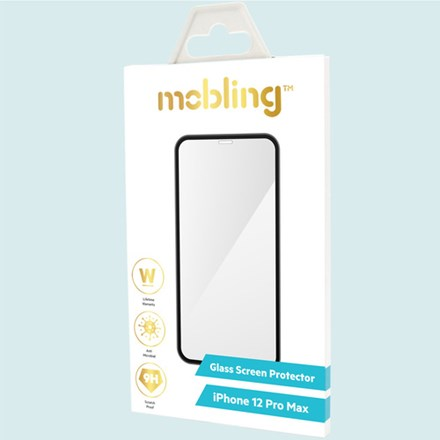 Mobling iPhone 12 Pro Max Full Glass Screen Protector - Clear
