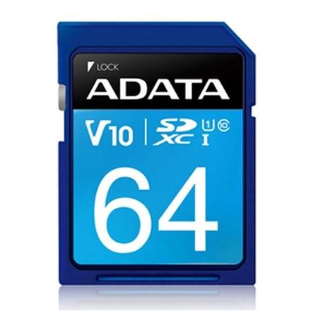 ADATA Premier UHS-I V10 SDXC Card 64GB FS161-X64