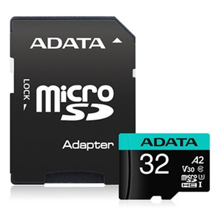 ADATA Premier Pro microSDHC UHS-I U3 A2 V30S Card with Adapter 32GB FS361-X32A