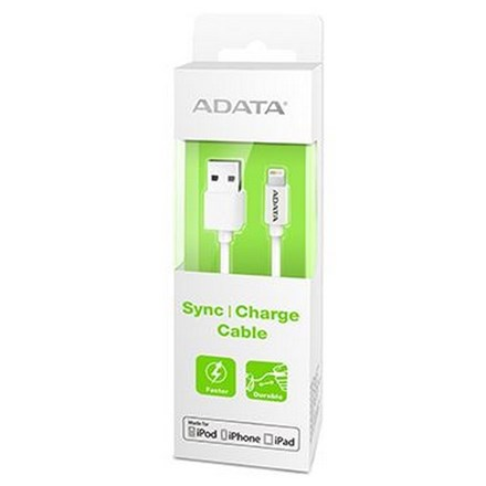ADATA USB Type A (M) to Lightning (M) White 1m Connection Cable CA1180