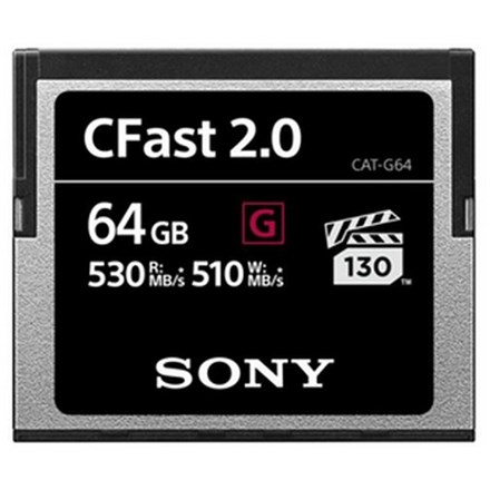 Sony CATG64 64GB G Series CFast 2.0 Memory Card FC161-G64