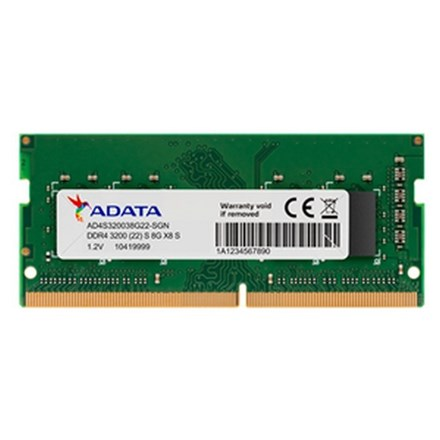 ADATA 8GB DDR4-3200 1024x8 SODIMM Lifetime wty NB2427