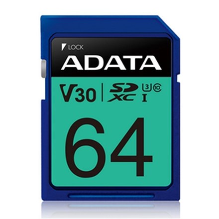 ADATA Premier Pro UHS-I U3 V30 SDXC Card 64GB FS181-X64