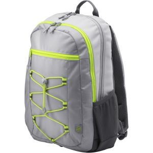 "HP Carrying Case (Backpack) for 39.6 cm (15.6"") Notebook - Neon Yellow, Grey - Water Resistant, Damage Resistant - Fabric - Shoulder Strap"