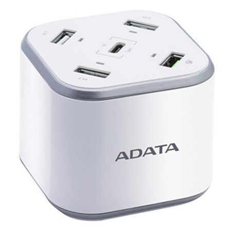Adata 5 Port USB Charging Station with Qualcomm Quick Charge (48w max) CA1169