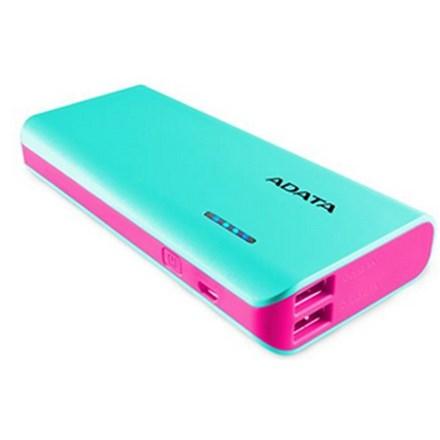 ADATA PT100 10000mAh Powerbank with Flashlight - Aqua/Pink PWR044