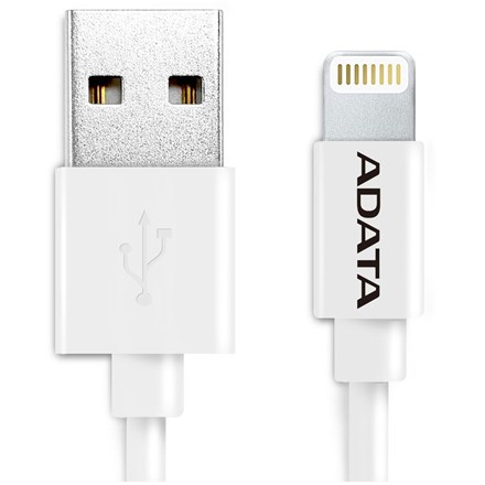 ADATA USB Type A (M) to Lightning (M) White 1m Connection Cable. CA1183