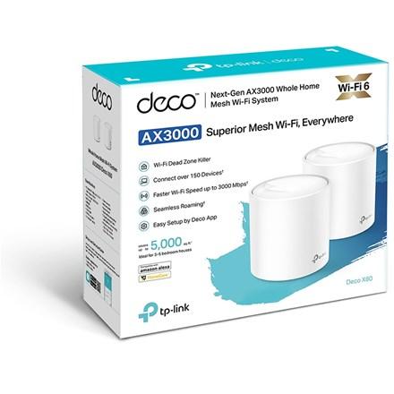 TP-Link Deco X60 Wi-Fi 6 Mesh Wi-Fi - 3 Pack AX3000 TP2426