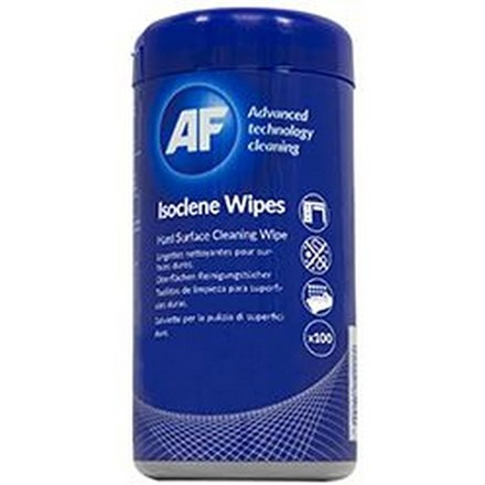 AF Isoclene Anti-Bacterial Office Wipes Tub of 100 CL110