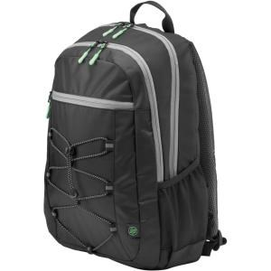 "HP Active Carrying Case (Backpack) for 39.6 cm (15.6"") Notebook - Black, Mint Green - Water Resistant, Damage Resistant - Fabric - Shoulder Strap"